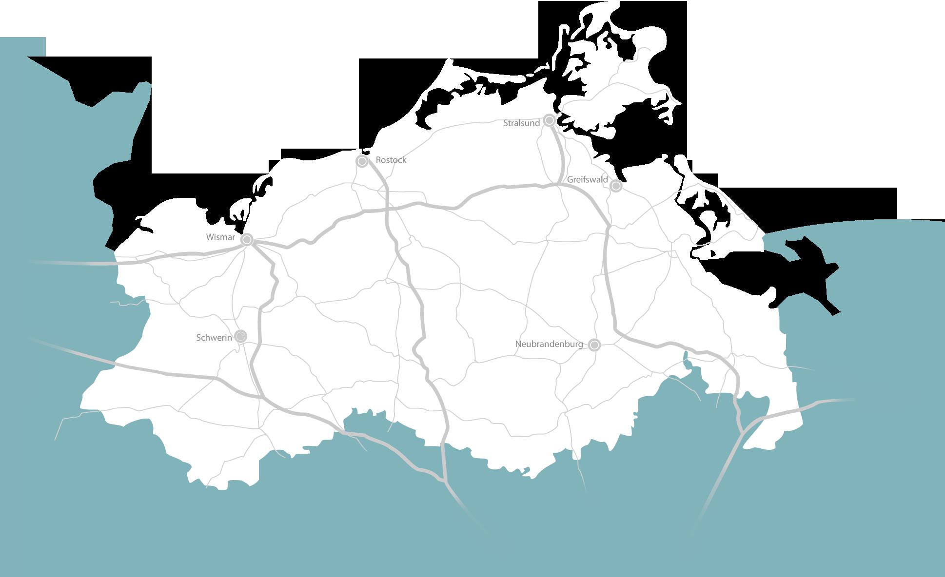 Automotive Zulieferer Karte Mecklenburg Vorpommern